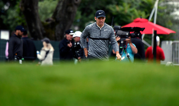 6/23/2018 Mike Orazzi | Staff Paul Casey during the 2018 Travelers Championship at TCP River Highlands Saturday in Cromwell.