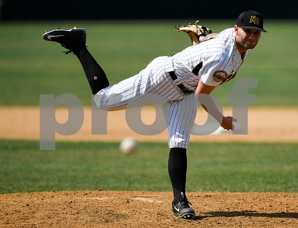 070417 Wesley Bunnell | Staff The New Britain Bees were defeated by the Somerset Patriots on Tuesday afternoon. Nate Roe (13).