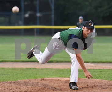 071717  Wesley Bunnell   Staff  The Bristol Greeners at the Southington 66ers in a Tri-State Baseball League contest played on Monday evening.  Bristol pitcher Finn (8).
