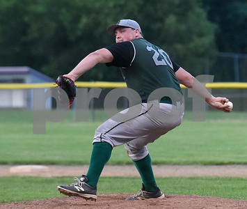 071717  Wesley Bunnell   Staff  The Bristol Greeners at the Southington 66ers in a Tri-State Baseball League contest played on Monday evening.  Bristol pitcher Roberge (20).