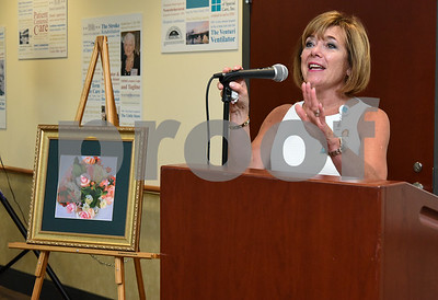 072017  Wesley Bunnell | Staff  The Hospital for Special Care held their 14th Annual Juried Art Show on Thursday evening with an exhibition running until September 28th. President and CEO of The Hospital for Special Care Lynn Ricci.