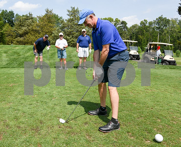 072117  Wesley Bunnell   Staff  The Boys and Girls Club of New Britain held the 13th Annual Chuck Roby Golf Tournament, sponsored by Farmington Bank,  on Friday at Stanley Golf Course. Dave Mensher on the tee, with Bob Grospitch, back left, Richard Koziara and Ron Albert completing the foursome.