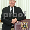 072517  Wesley Bunnell | Staff<br /> <br /> Berlin's Police Chief Paul Fitzgerald on Tuesday afternoon in his office.