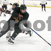 072717  Wesley Bunnell   Staff<br /> <br /> The Newington Tribe vs the New Haven Warriors in a Nutmeg Games hockey game on Thursday evening in Newington.  Jake Martin (9).