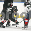 072717  Wesley Bunnell   Staff<br /> <br /> The Newington Tribe vs the New Haven Warriors in a Nutmeg Games hockey game on Thursday evening in Newington. Dylan Schaivo (74).