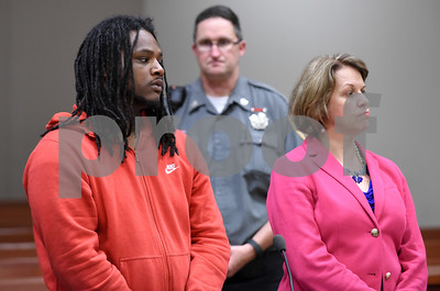 072817  Wesley Bunnell | Staff  Jessie Ingram appeared in New Britain Superior Court on Friday afternoon charged as a fugitive from justice and agreed to extradition back to New York. Ingram is shown with Attorney Kelly Goulet-Case.