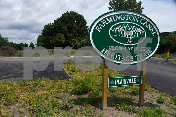 7/11/2017 Mike Orazzi   Staff The so-called Plainville gap, off Northwest Drive in Plainville along the Farmington Canal Heritage Trail where is connects to Farmington.