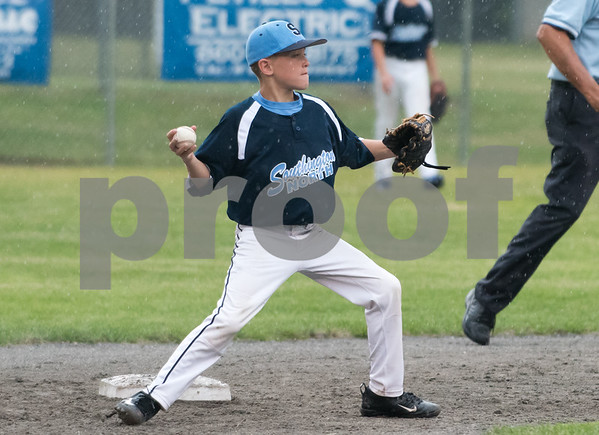 071217 Wesley Bunnell   Staff The Little League age 10-11 District 5 Championship game was played at Trumbull Park in Plainville featuring Southington North vs Wallingford. Second baseman Garrison Goldstein (1).