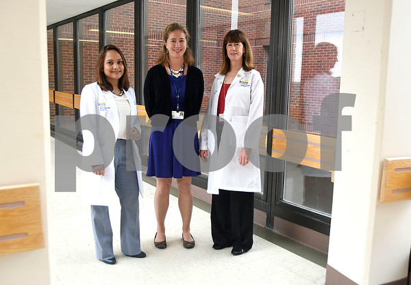 7/12/2017 Mike Orazzi   Staff Bristol Hospital's Dr. Margarita Reyes, leader of the geriatric medicine program, Sarah Jeffrey ,Director of Service Line Strategy and Development and Michelle Miranda, Director of Inpatient Services on Level F near the area where the new inpatient senior behavioral health unit will be.