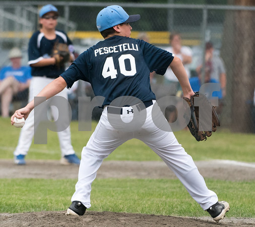 071217 Wesley Bunnell   Staff The Little League age 10-11 District 5 Championship game was played at Trumbull Park in Plainville featuring Southington North vs Wallingford. Starting pitcher Kyle Pescetelli (40).
