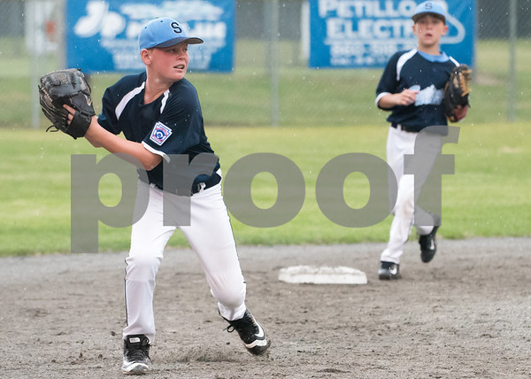 071217 Wesley Bunnell   Staff The Little League age 10-11 District 5 Championship game was played at Trumbull Park in Plainville featuring Southington North vs Wallingford. SS Kyle Crispens (11).
