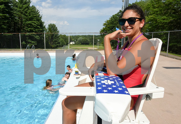 071017 Wesley Bunnell   Staff Bristol residents take advantage of Page Park Pool to cool down on a warm Monday afternoon under the watch of lifeguard Eva Boniatis.