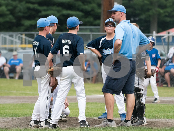 071217 Wesley Bunnell   Staff The Little League age 10-11 District 5 Championship game was played at Trumbull Park in Plainville featuring Southington North vs Wallingford.