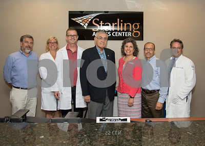 071317  Wesley Bunnell | Staff  Starling Access celebrated the opening of its newest location at 505 Willard Ave in Newington.  Newington town council member Tim Manke, L, Dr. Anne Lally, Dr. Terrence Oder, Mayor Roy Zartarian, Tracy King, Practice Manager Sebastian Vassallo & Dr. Jarrod Post.