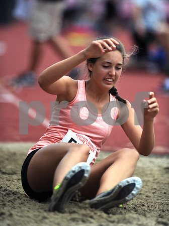 7/15/2017 Mike Orazzi | Staff Emma White during the triple jump at the Nutmeg Games held in Willow Brook Park in New Britain Saturday.