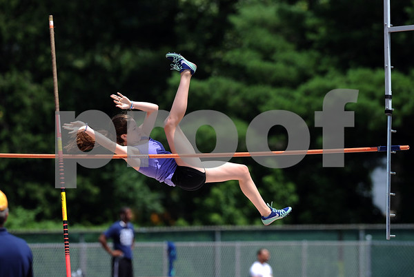 7/15/2017 Mike Orazzi | Staff Kyra Connolly during the pole vault at the Nutmeg Games held in Willow Brook Park in New Britain Saturday.
