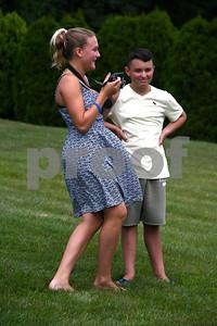 7/15/2017 Mike Orazzi | Staff Nico Fasold and Dakota Dinielli during Nico's Lemonade Stand  fundraiser on Northwest Drive in Plainville Saturday.