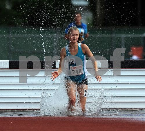 7/15/2017 Mike Orazzi | Staff Rachel Joyce in the 2000 meter steeplechase during the Nutmeg Games held in Willow Brook Park in New Britain Saturday.