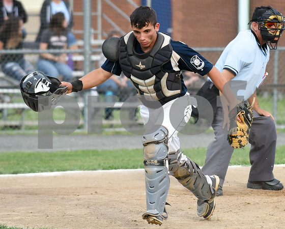 070617 Wesley Bunnell | Staff Southington vs Bristol in American Legion Baseball on Thursday evening at Southington High School. Josh Panarella (7).