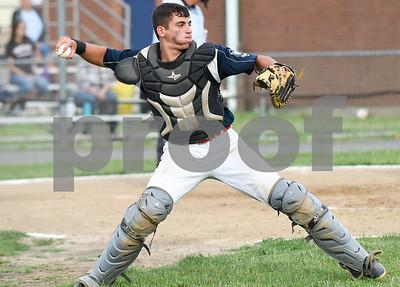 070617  Wesley Bunnell   Staff  Southington vs Bristol in American Legion Baseball on Thursday evening at Southington High School. Josh Panarella (7).