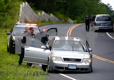 7/6/2017 Mike Orazzi   Staff The scene of a two car crash on Waterbury Road in Bristol Thursday afternoon.