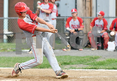 070617  Wesley Bunnell   Staff  Southington vs Bristol in American Legion Baseball on Thursday evening at Southington High School. Noah Plantamuro (5).