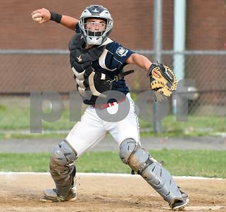 070617  Wesley Bunnell   Staff  Southington vs Bristol in American Legion Baseball on Thursday evening at Southington High School. Josh Panarella (7)