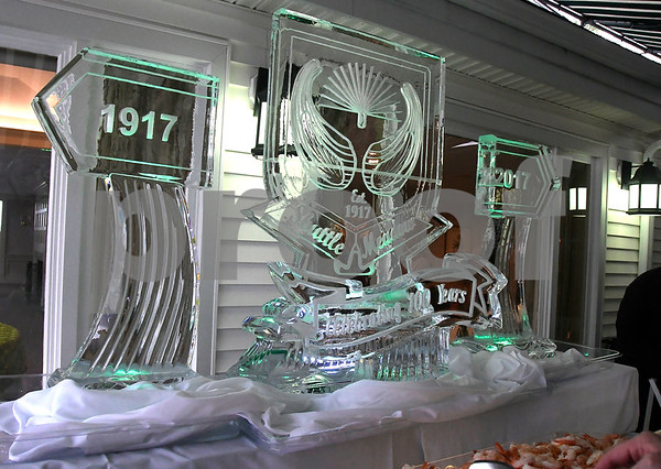 7/8/2017 Mike Orazzi | Staff The ice sculpture during the 100th Anniversary Gala for the Shuttle Meadow Country Club held Saturday evening at the club.