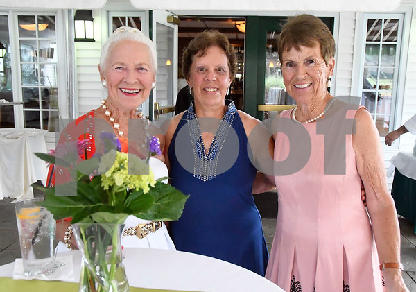 7/8/2017 Mike Orazzi | Staff Gail Vigra, Ann Ducasse and Mairead Forde during the 100th Anniversary Gala for the Shuttle Meadow Country Club held Saturday evening at the club.