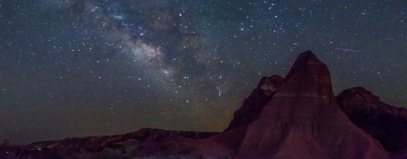 Night Sky Panorama, Palo Duro Canyon