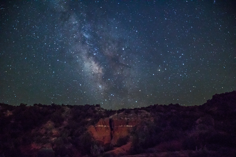 Milky Way over Cave, Palo Duro Canyon
