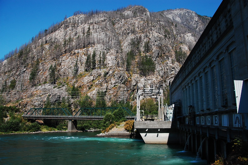 Seattle City Light (the city run power company for Seattle) maintains three dams in the Cascades to power the city.  This is the smallest of the three.  You can go in and tour it... pretty cool.