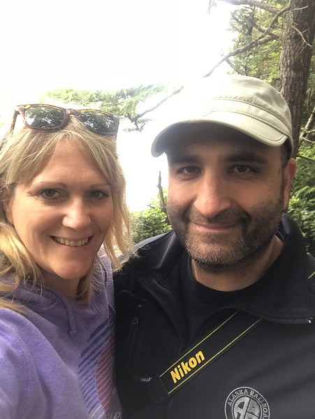 Mer's selfie of us at Cape Flattery.<br /> <br /> (Photo by Mer)