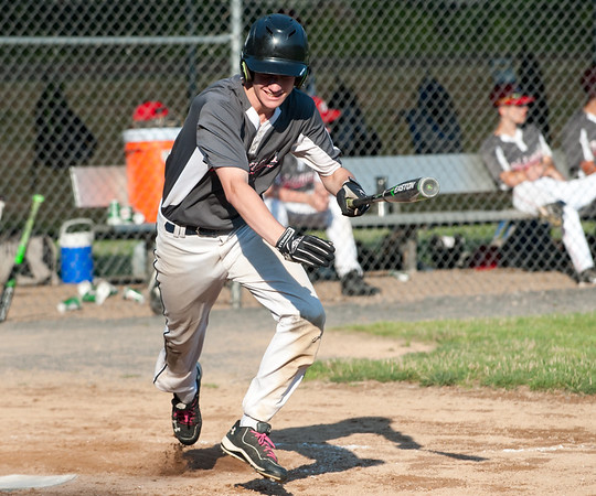 07/02/18 Wesley Bunnell | Staff Edgewood vs Southington S/W in a district 5 senior league baseball game on Monday evening in Bristol. Jacob Brooks (12).