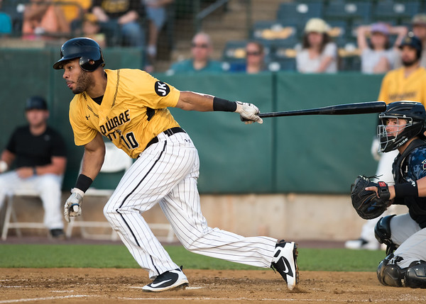06/29/18 Wesley Bunnell | Staff The New Britain Bees were defeated 6-4 by the Southern Maryland Blue Crabs. Jonathan Galvez (10)