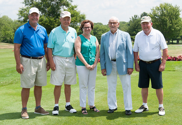07/16/18 Wesley Bunnell | Staff The 2018 Mayor's Cup Golf Outing took place on Monday morning at Chippanee Country Club benefitting the Boys and Girls Club of Bristol. Former Mayors Mike Werner, John Leone, current Mayor Ellen Zoppo-Sassu, former Mayors Bill Stortz & Art Ward.