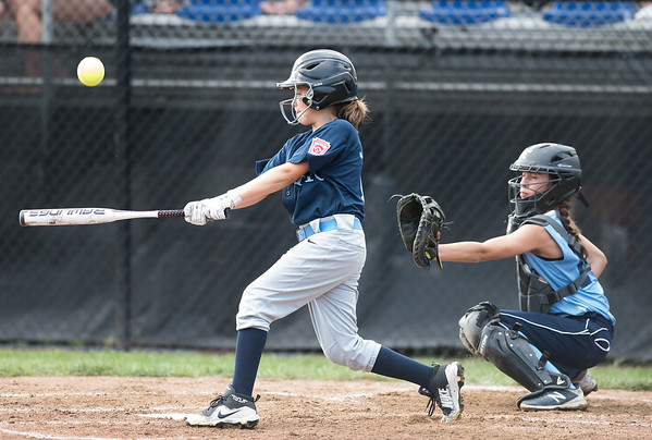 07/23/18 Wesley Bunnell   Staff York, ME defeated Peabody, MA 1-0 in Little League Eastern Region Softball on Monday afternoon. York's Emerson Joyce (8).