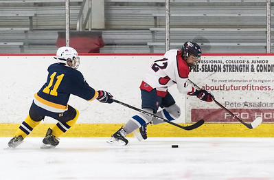 07/26/18  Wesley Bunnell | Staff  Central CT Capitals (Newington) 14U skated to a scoreless tie against Simsbury on Thursday evening at Newington Arena in a Nutmeg Games contest. Brady Quinn (12).