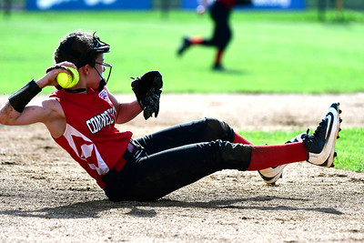 7/26/2018 Mike Orazzi | Staff CT's Elena Ohe (21) during the Little League Eastern Regional Softball Tournament at Breen Field in Bristol Thursday.