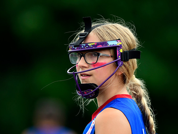 7/26/2018 Mike Orazzi | Staff Rhode Island's Giselle Jeffrey (1) during the Little League Eastern Regional Softball Tournament at Breen Field in Bristol Thursday.
