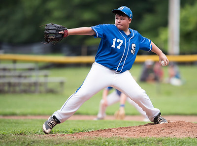 07/30/18  Wesley Bunnell | Staff  The Southington Travel Knights 12U baseball was defeated 10-0 by the Catalyst Bombers at A.W. Stanley Park on Monday evening in Nutmeg Games action. Evan Wilcox (17).
