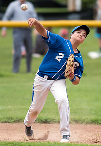 07/30/18  Wesley Bunnell | Staff  The Southington Travel Knights 12U baseball was defeated 10-0 by the Catalyst Bombers at A.W. Stanley Park on Monday evening in Nutmeg Games action. Third Baseman D.J. DiBenedetto (2).