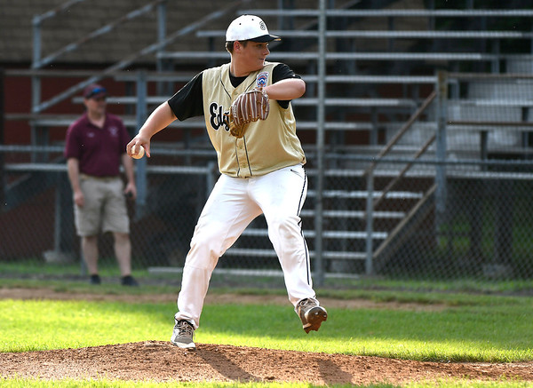7/11/2018 Mike Orazzi | Staff Edgewood's Nate Oulette (20)against Killingly in the Senior League state championship at Barnes Field in Bristol Wednesday night.
