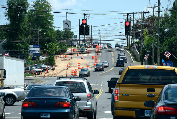 7/13/2018 Mike Orazzi | Staff Construction on Route 6 in Bristol, Friday.