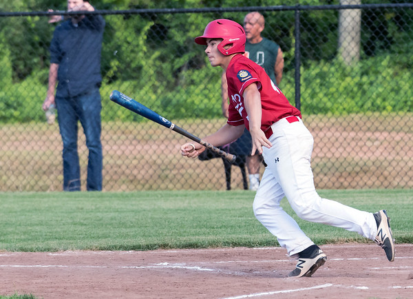 07/12/18 Wesley Bunnell | Staff Berlin Legion baseball vs RCP at Sage Park on Thursday evening. Dan Veleas (25) .