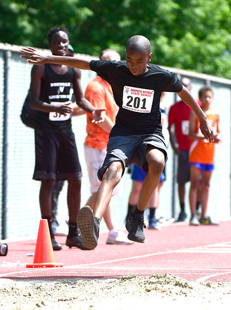 7/14/2018 Mike Orazzi | Staff Jahi Hampton during the Nutmeg State Games held at Veterans Memorial Stadium in New Britain Saturday.