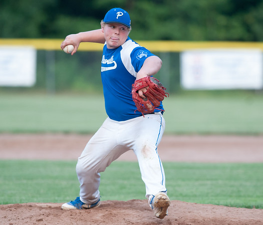 07/16/18 Wesley Bunnell | Staff Bristol defeated Plainville in legion baseball on Monday night at Trumbull Park in Plainville. Tyler Dufour (11).