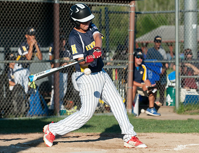 07/18/18  Wesley Bunnell | Staff  Newington 12U Little League vs Mystic on Wednesday afternoon played in Rocky Hill. Colin Ackerly (34) with a triple and RBI.