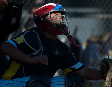 07/18/18  Wesley Bunnell | Staff  Newington 12U Little League vs Mystic on Wednesday afternoon played in Rocky Hill. Gabby Tirado (21).