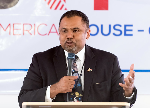 07/18/18 Wesley Bunnell | Staff The Sudanese American House celebrated its official opening today at its New Britain location including guest speakers, friends and city officials. Co-Founder of the house Mr. Yasir Hamad gives a description of the organization.